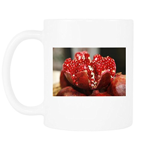 11 oz and 15oz Glossy Mug with Pomegranate Open, Cores, Fruit (Cor Fruit Bowl)