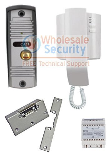 1 Button 2 Wire Audio Door Entry Kit And Lock Release Amazon