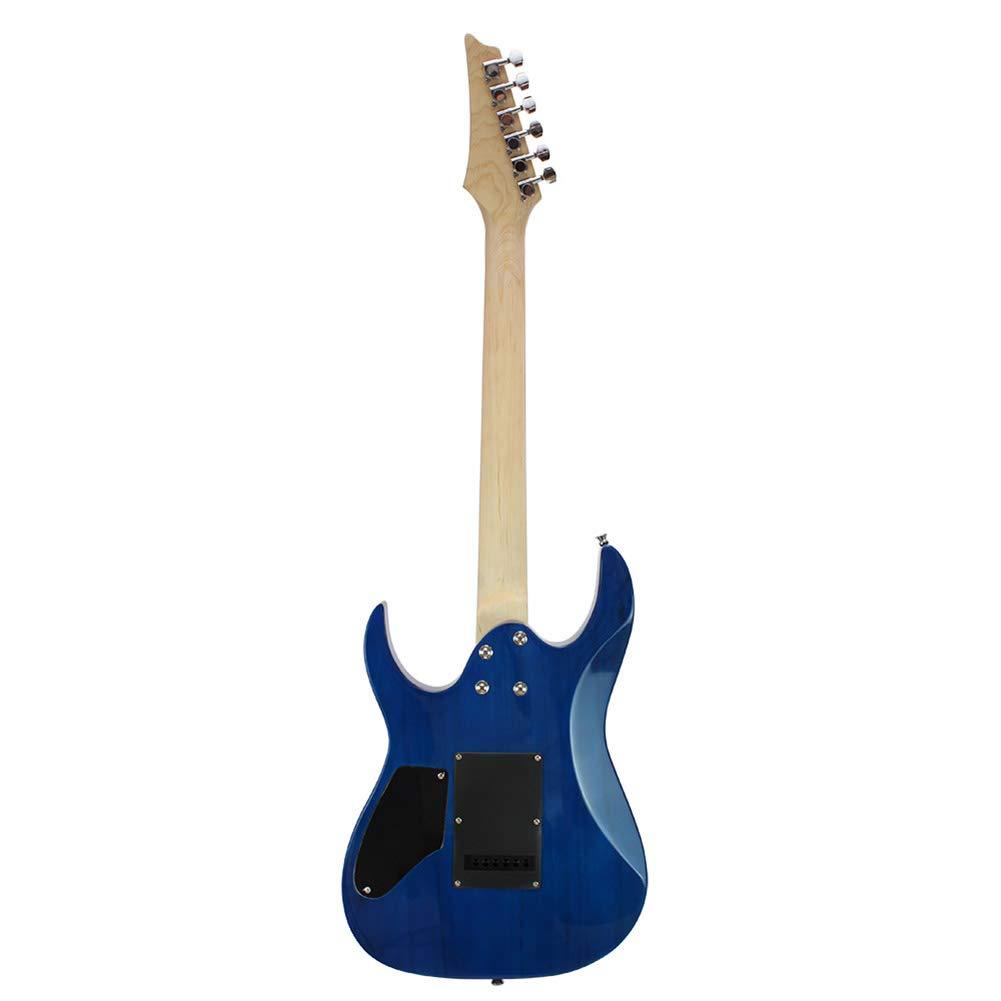 NUYI-4 Nueva Guitarra eléctrica Genuina Serie Guitarra eléctrica,Blue: Amazon.es: Hogar