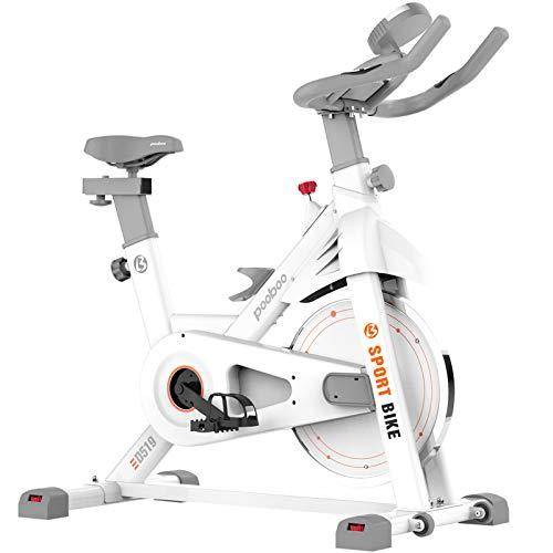 pooboo Exercise Bike Belt Drive Stationary Bike Indoor Cycling Bike Home Cardio Bike Training with Comfortable Seat…