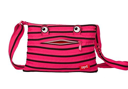 original zipit Monster Schultertasche, in pink-schwarz