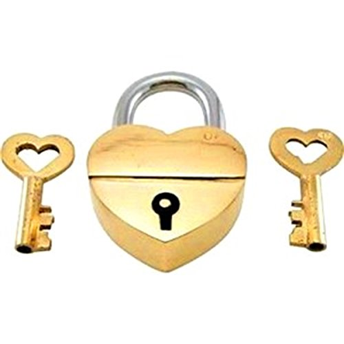 - Purpledip Brass Small Padlock: Glowing Heart (11003)