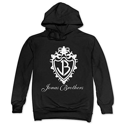 (MAGGO Pop Group Jonas Brothers Classic Logo Hoodie Mens Black)