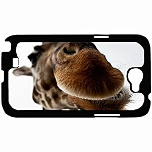 New Style Customized Back Cover Case For Samsung Galaxy Note 2 Hardshell Case, Back Cover Design Giraffe Personalized Unique Case For Samsung Note 2