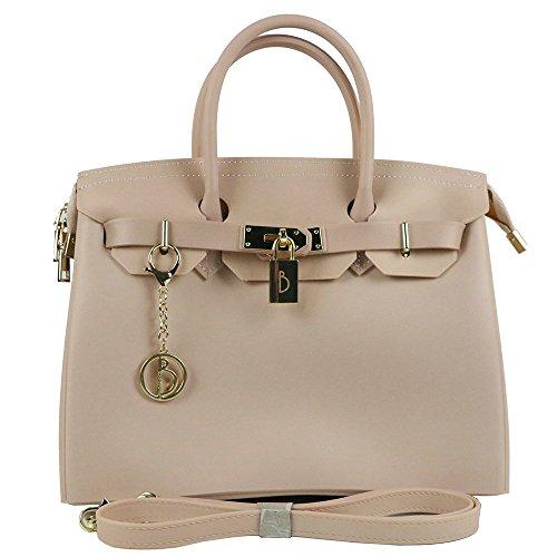 Shoulder Design V Femmes Top Sacs Handle élégant Leather Main Pour Pink Les Shape Sac Main Look à à Mode wTt0q