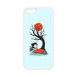 iPhone 6 Plus 5.5 Inch Cell Phone Case White Girl and a Fox 2 lrwt