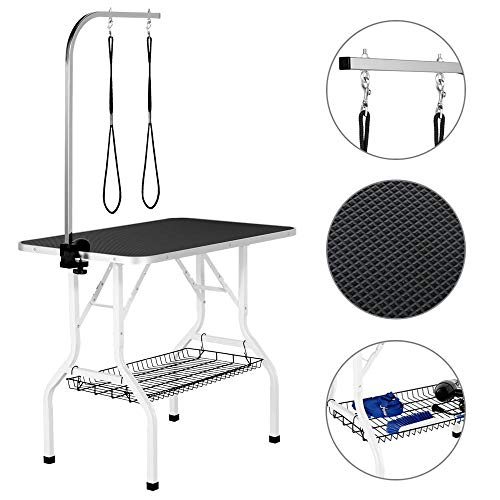 Yaheetech Pet Dog/Cat Grooming Table Foldable Height Adjustable - 36