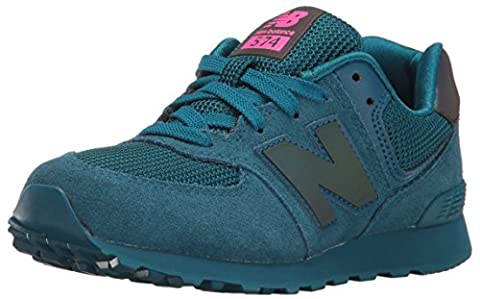 New Balance Girls' KL574V1 Sneakers, Teal, 5.5 M US Big (Balance Runner)