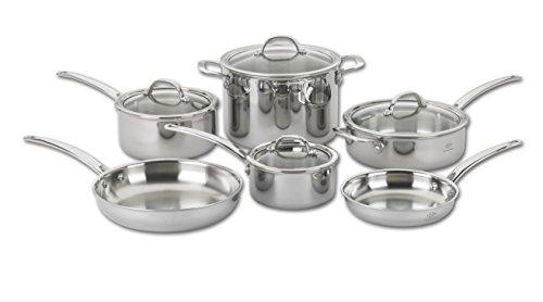 Lenox L-12272 Tri-Ply 10-Piece Cookware Set, Silver For Sale