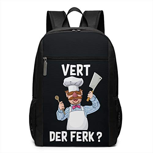 795b1b376e87 Vert Der Perk Swedish Chef Travel Bag Durable Laptop Backpack 3D Printed  Teenage's School Bag Water Resistant PC Bag for Unisex Officer with Meshing  ...