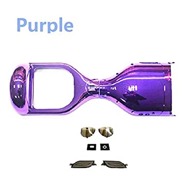 YAVOCOS Purple 6.5 inch Chrome Outer Plastic Cover Case Shell Replacement Smart Self Balance Wheel Balancing Electric Scooter Spare Parts : Sports & Outdoors