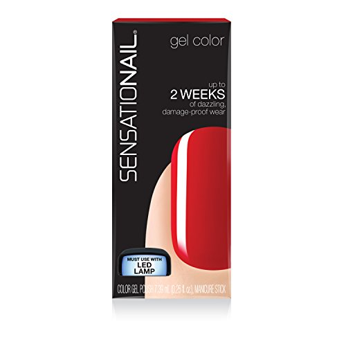 SensatioNail by Nailene Color Gel Polish, Scarlet Red, .25 f