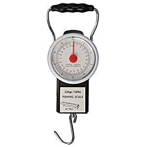 Goture Digital Hanging Scale Mechanical Kitchen and Fish Fishing Scale Multi-Purpose Portable Hand Held Dial Weight Scale with Tape Measure (50 Lbs / 22Kg)