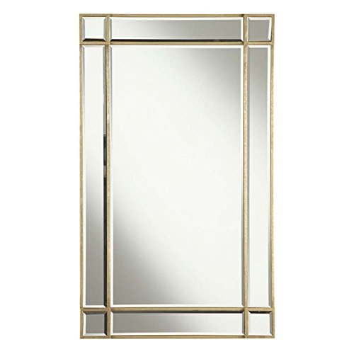 Elegant Lighting Florentine Rectangular Clear Mirror with Gold Finish, 22