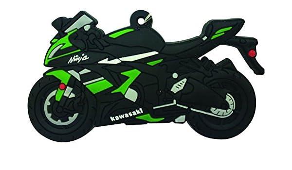 Goma Llavero, diseño de Kawasaki ZX6R: Amazon.es: Coche y moto