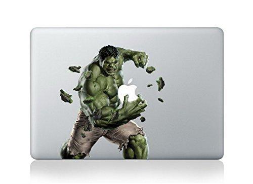 Incredible Hulk Cartoon Character Decal Sticker for Macbook Laptop Air Pro Retina 13 Inch Apple ()