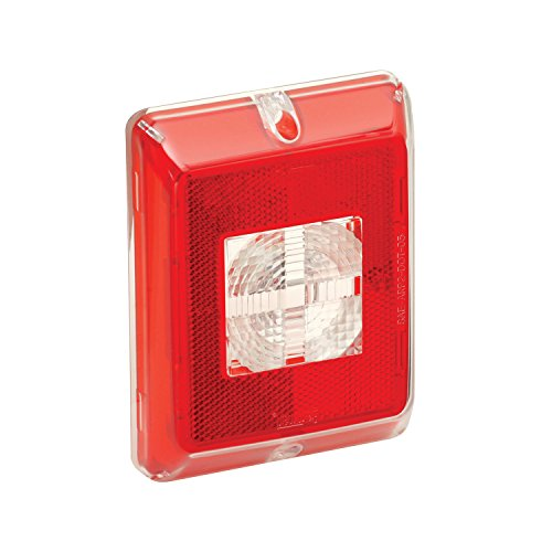 Bargman 48-84-711 Enhanced Height Incandescent Reflex (with Clear Center Backup Lens - Red (Bargman Tail Light Lens)