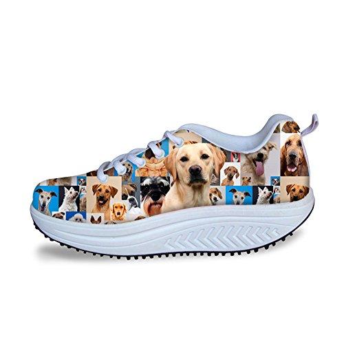 Knuffels Idee Schattige Hond Platform Schoenen Dames Afvallen Labrador Retriever