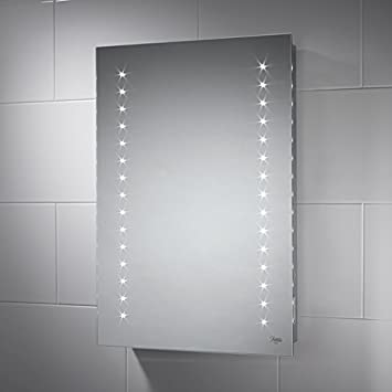 Pebble Grey Aurora LED Bluetooth Bathroom Mirror 500mm x 700mm #2: 41P8MrfTHrL SY355