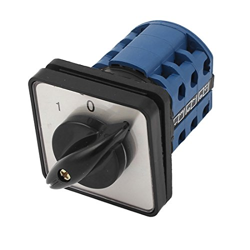 Panel Mounting 3-Position 3-Phase Rotary Cam Changeover Switch CA10 ()