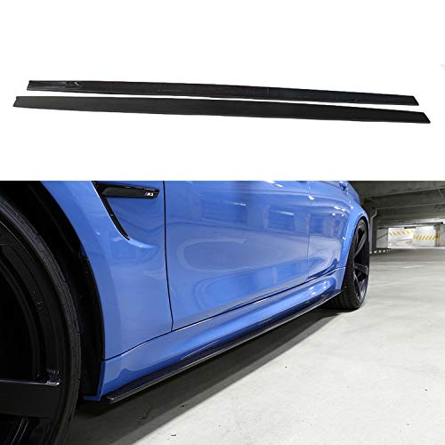 2 pcs 3D style carbon fiber side skirts extension for BMW F80 F82 F83 M3 M4 ()