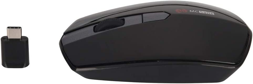 Barcley Bluetooth Wireless Mouse 2.4GHz Rechargeable Dual Mode Slim Wireless Mouse Silent USB Mice,4 Buttons 3 Adjustable DPI Up to 1600 Compatible with All Type-C Devices Black
