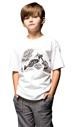 (Harley-Davidson Boys Youth Rally Life Motorcycle White Short Sleeve T-Shirt (2T/3T))