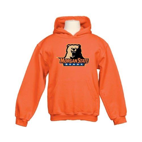Morgan State Youth Orange Fleece Hoodie 'Morgan State Bears w/Bear' - Small