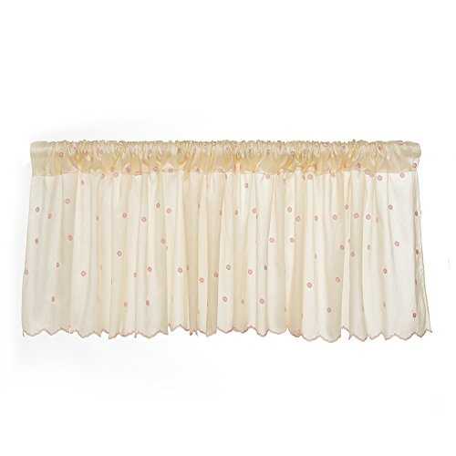 Glenna Jean Florence Window Valance, Taupe/Pink, used for sale  Delivered anywhere in USA