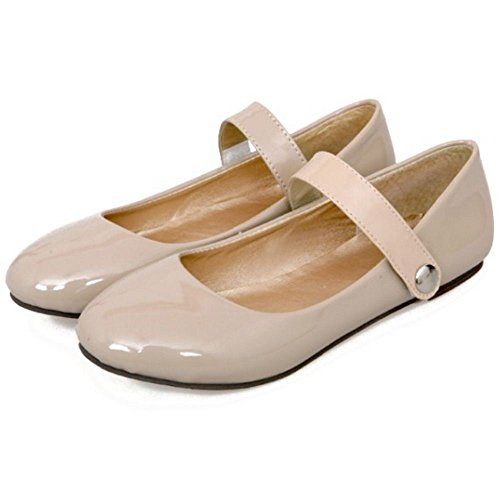 Mary Strap Adorable apricot Jane Girl Shoes New Ballerina Little Girl Flat Big KemeKiss Velcro 65wwf