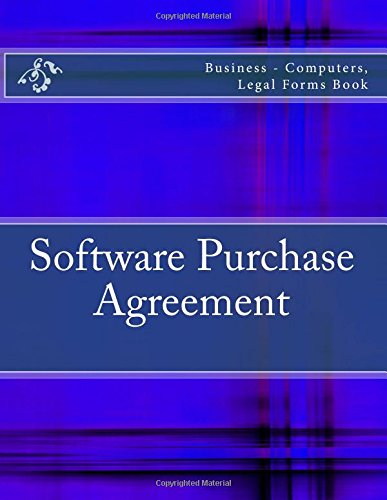 Software Purchase Agreement Business Computers Legal Forms Book