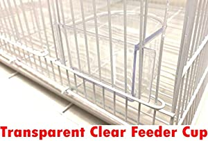 Mcage Lot of Breeding Bird Flight Cages for Canary Parakeet Aviaries Budgies Lovebird Finch (24 White Divider) (Color: 24 White Divider, Tamaño: 24 x 16 x 16H)