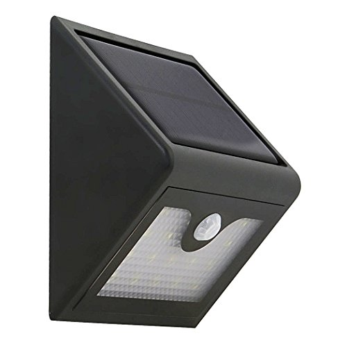 SZHENRY Waterproof LED Solor Wall Night Light with Motion Sensor and Light Sensing, Suitable for Outdoor Gate, Garden, Pool, Street, Pathway, Patio - Column Cover Panel