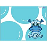 KidKusion High Chair Splat Mat, Hippo