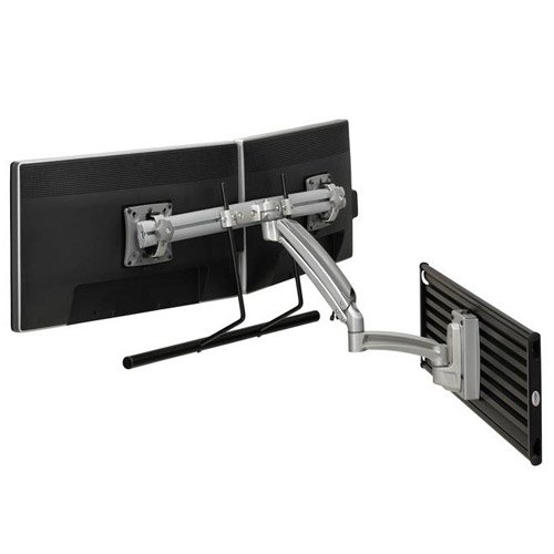Chief K1S22HS TAA K1 SLAT MNT DUAL DISP 2L ARM H-ARRAY SLV Mnt Dual Wall