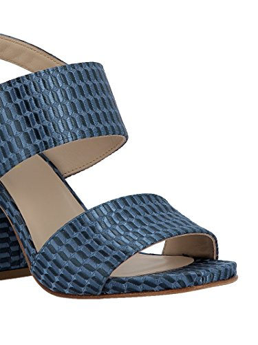 Blue Women's Leather Elena A3255 Iachi Sandals q0wwtYf
