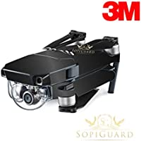SopiGuard 3M Brushed Black Precision Edge-to-Edge Coverage Vinyl Skin Controller Battery Wrap for DJI Mavic Pro
