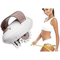 Siddhi Collection Plastic Electric Body Slimmer Roller Massager Handle Device with 2 Attachment (Multicolour)
