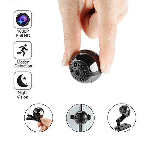 Mini Hidden Spy Camera - Arebi Upgraded Full HD 1080P Spy Cameras Video Recorder Handheld Security DVR with Motion Detection and Infrared Night Vision