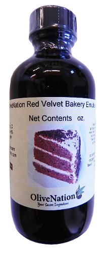 OliveNation Red Velvet Cake Emulsion - Size of 1 Gal - Kosher labeled, Gluten free and soluble in water Emulsion - Perfect To Flavored Cakes and Cupcakes by OLIVENATION