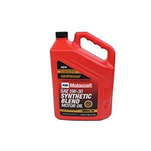 Ford Genuine Fluid XO-5W30-5QSP SAE 5W-30 Premium Synthetic Blend Motor Oil - 5 Quart Jug