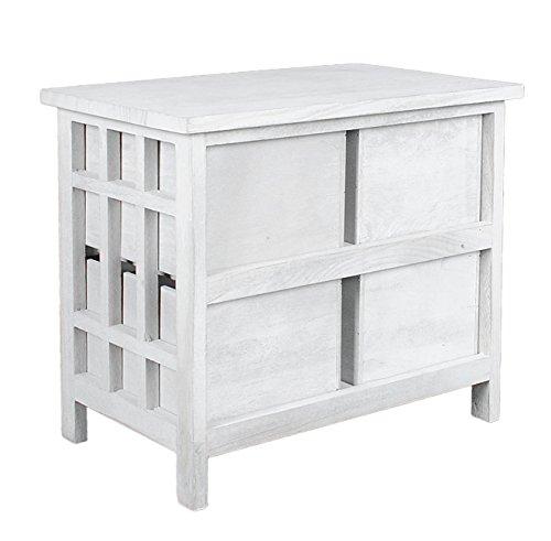 landhaus kommode beistelltisch wei schrank bad flur k chen regal nachttisch neu. Black Bedroom Furniture Sets. Home Design Ideas