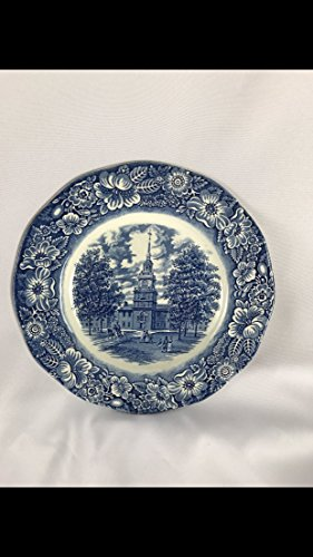 (Liberty Blue by Staffordshire, China Dinner Plate)