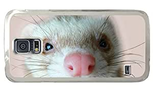 Hipster Samsung Galaxy S5 Case carrying ferret PC Transparent for Samsung S5