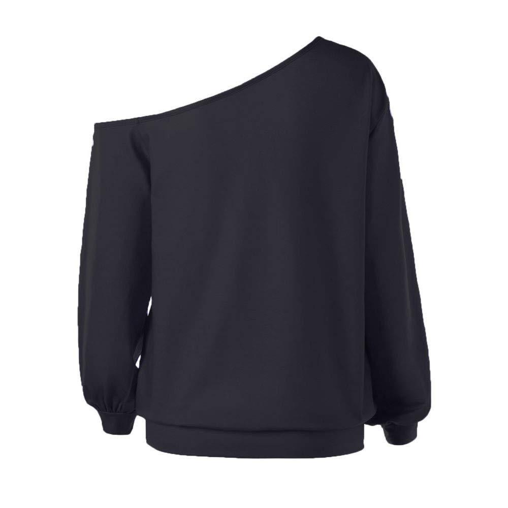 ... Hallowee,BBestseller Print Off Shoulder Top Camiseta de Manga Larga Sudadera con Capucha Camiseta de Mujer Blusas de Mujer: Amazon.es: Ropa y accesorios