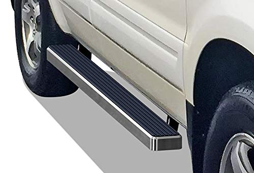 - iBoard (Silver 4 inches) Running Boards | Nerf Bars | Side Steps | Step Rails for 2003-2008 Honda Pilot Sport Utility 4-Door & 02-06 Acura MDX