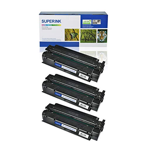 (SuperInk 3 Pack High Yield Compatible Toner Cartridge Replacement for HP 13X Q2613X Black use in Laserjet 1300 1300n 1300xi Printer (4000 Pages Yield))