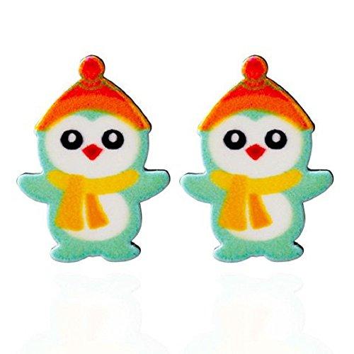 Snowman Dangler (Festival Joy Snowman Penguin Stud Earrings - Green)