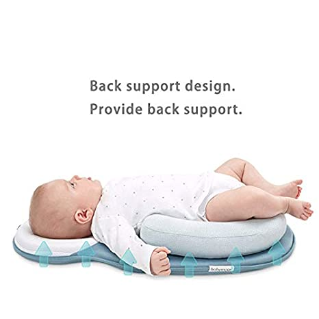 2 Newborn Baby Mattress Infant Sleep Positioning Pad Baby Sleep Protector Baby Pillow Prevent Flat Head Shape Anti Roll Pillows