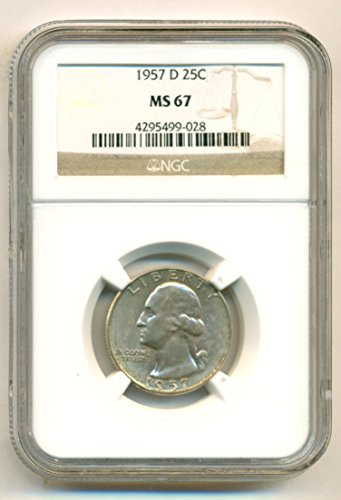 1957 D Washington Quarter MS67 NGC
